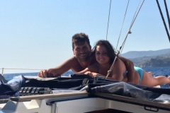 insieme sulla barca a vela 4